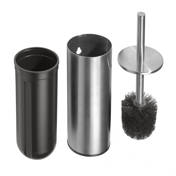 NEO: Toilet brush holder, free standing /wall-mounted, black brush