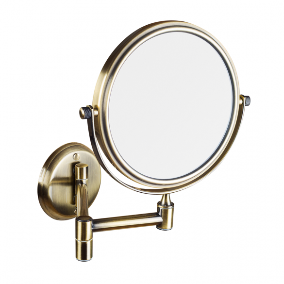 RETRO bronze: Double-sided cosmetic mirror