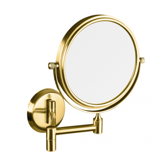 RETRO gold: Double-sided cosmetic mirror