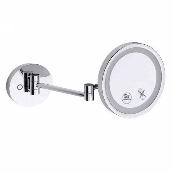 Cosmetic mirror with LED lighting