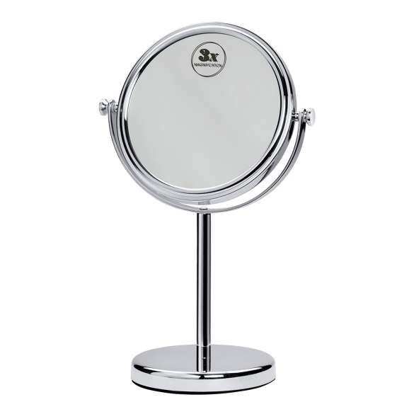 Cosmetic bath mirror free standing O180 mm
