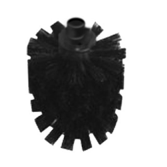 Spare WC brush without handle - black